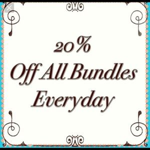 Other - 20% off on all bundles of 2 or more 😍